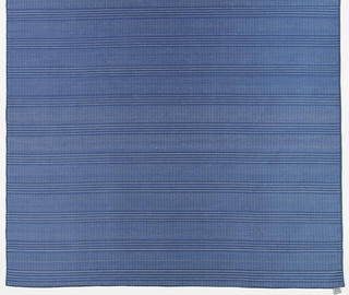 Sheer panel of blue and white stripes. Heavy threads of off-white kibiso create horizontal stripes.