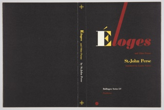 Book Cover, Éloges and Other Poems