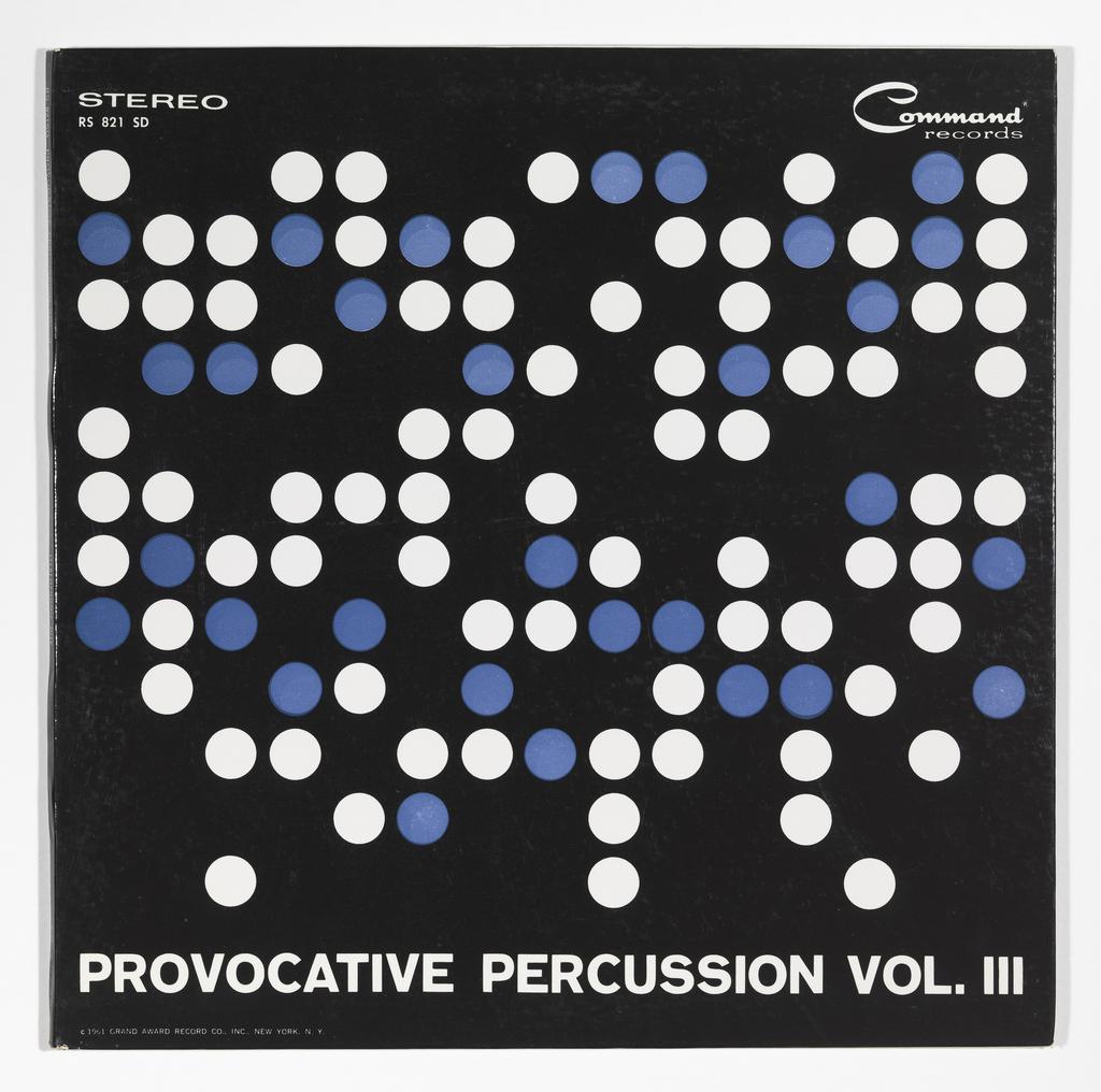 Record Cover, Provocative Percussion, Vol. III