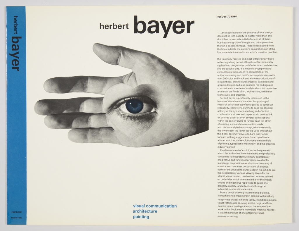 Book Cover, Herbert Bayer: Visual Communication, Architecture, Planning