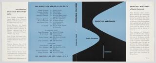 Book Cover, Selected Writings of Boris Pasternak