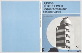 Book Cover, Berliner Architektur der 20er Jahre (Berlin School of Architecture of the Twenties)