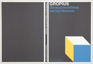 Book Cover, Die neue Architektur und das Bauhaus (The New Architecture and the Bauhaus)