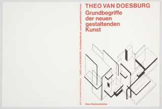 Book Cover, Grundbegriffe der Neuen Gestaltenden Kunst (Principles of Neo-Plastic Art)