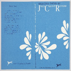 Book Cover, Selected Poems by John Crowe Ransom