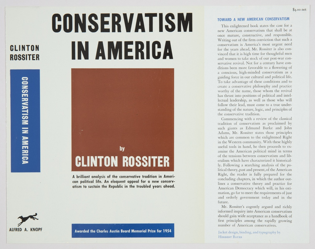 Book Cover, Conservatism in America