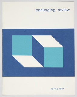 Booklet Cover, Packaging Review, Spring 1961