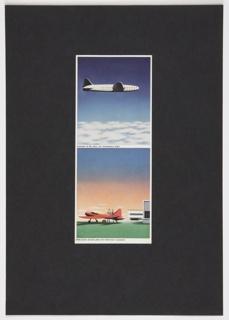 Print, Presentation Board with Airplane Designs