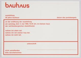 Postcard, Bauhaus Ausstellung