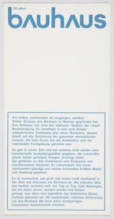Brochure, Bauhaus 50 Jahre