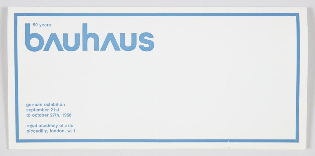 Brochure, Bauhaus: 50 Years