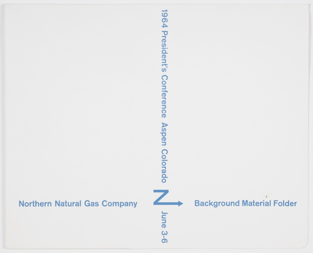 Folder, President's Conference Aspen Colorado, Northern Natural Gas Company Background Material Folder