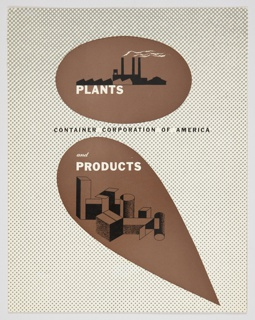 Booklet Cover, Plants and Products