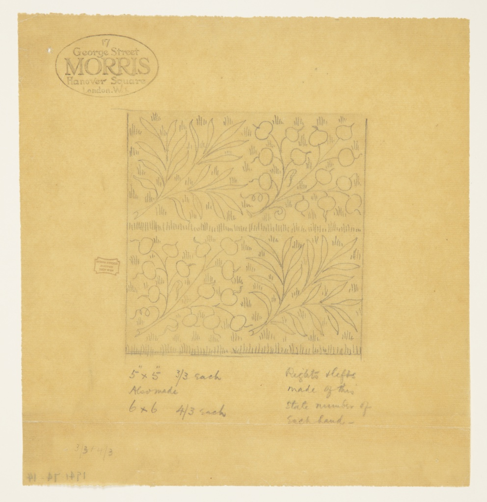 Drawing, Design for a Tile