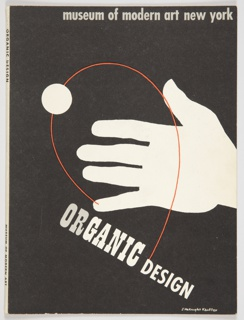 """Cover design for Eliot F. Noyes' book, """"Organic Design in Home Furnishings."""""""