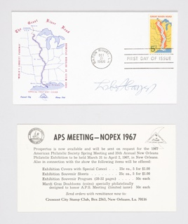 Print, Signed First Day Issue Envelope for United States Postal Service Great River Road Stamp