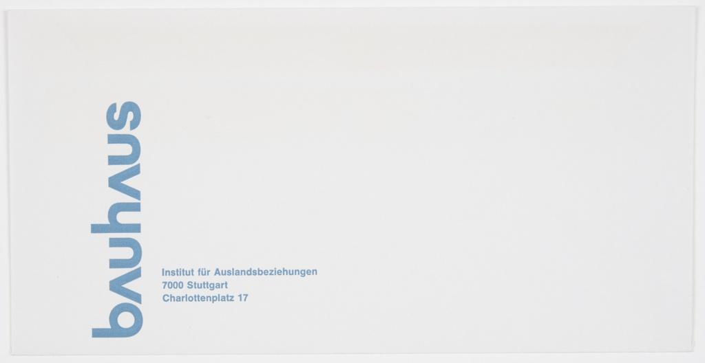 Envelope, Bauhaus Ausstellung