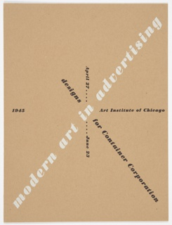 Book Cover, Modern Art in Advertising: Designs for Container Corporation, Art Institute of Chicago