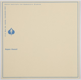 Envelope, Robert O. Anderson Aspen Award in the Humanities