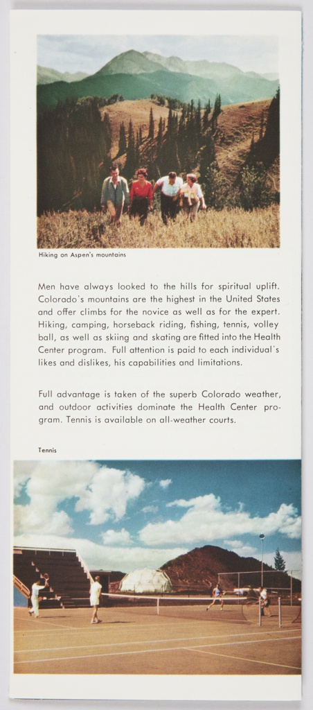 Brochure, The Aspen Health Center, Aspen, Colorado