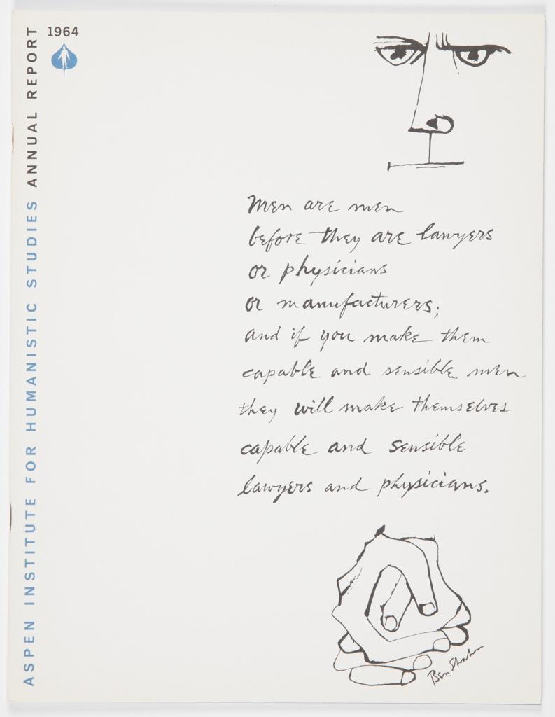 Booklet, Aspen Institute for Humanistic Studies Annual Report