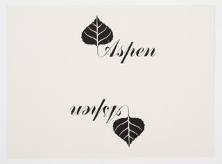 Print, Design for Aspen Logo
