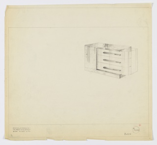 Drawing, Design for Chest of Drawers, Helena Rubinstein Apartment, 625 Park Avenue, New York, NY, ca. 1934