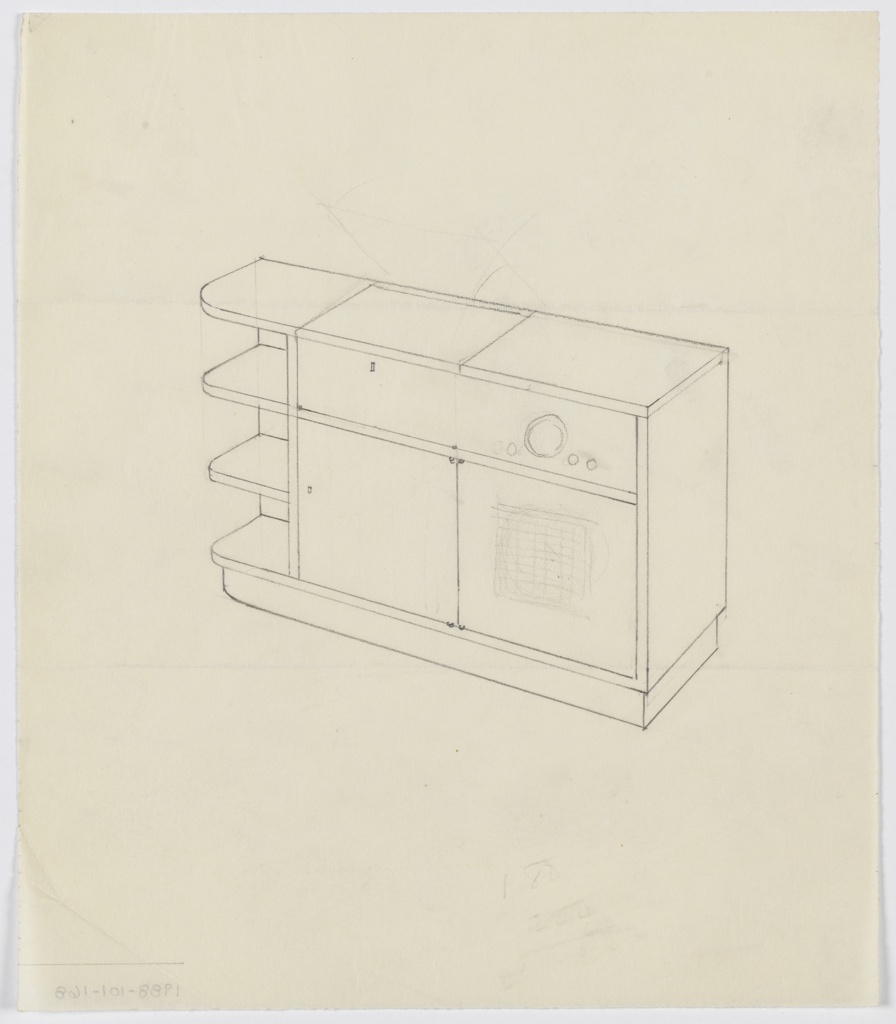 Drawing, Design for Phonograph Cabinet, ca. 1936