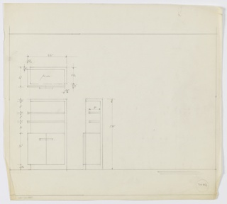 Drawing, Design for Cabinet, February 1933