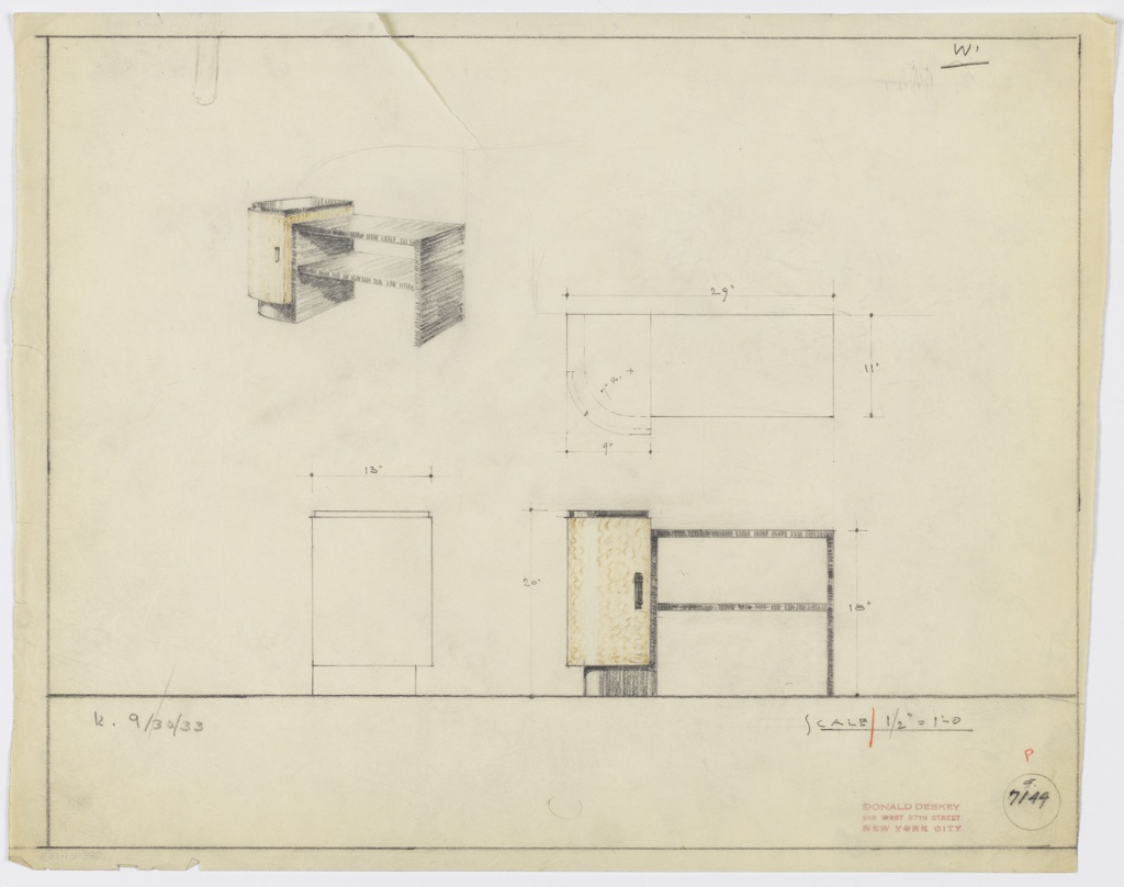 Drawing, Design for End Table