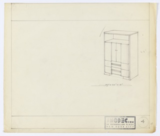 Drawing, Design for Cabinet, ca. 1931