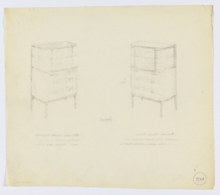 Drawing, Design for Cabinet, 1933