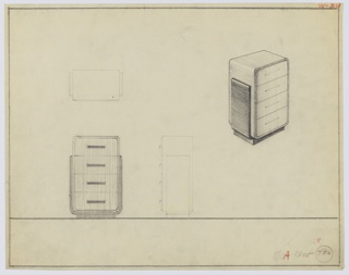 Drawing, Design for Chest of Drawers, 1930–1935