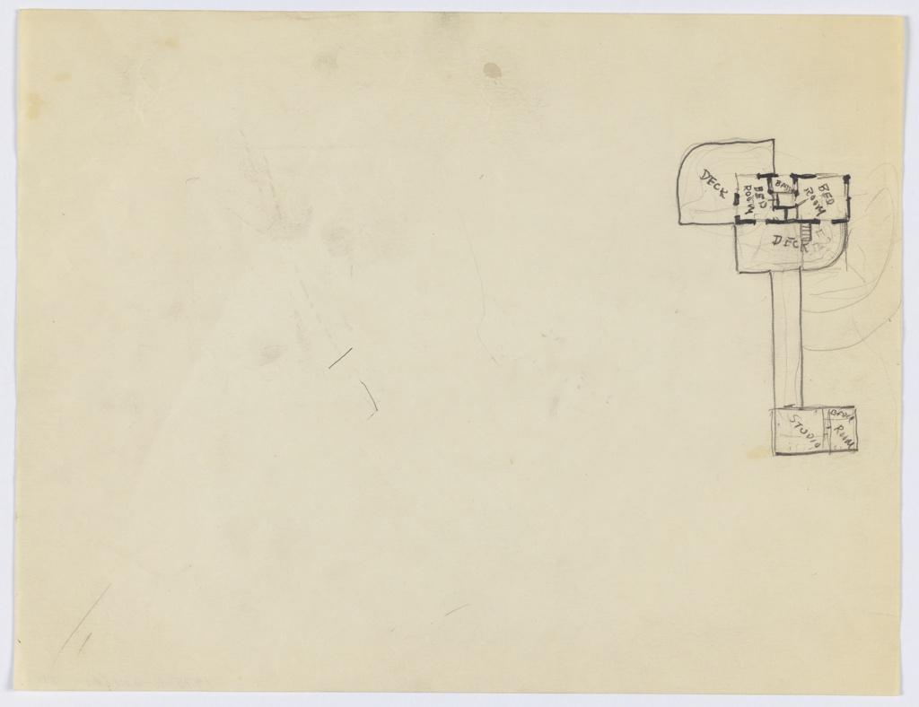 Drawing, Richard H. Mandel House: Plan, 1933–35