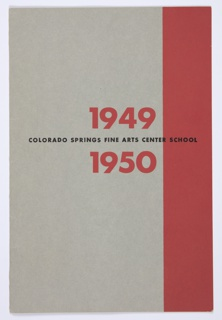 Booklet Cover, Colorado Springs Fine Arts Center School, 1949–1950