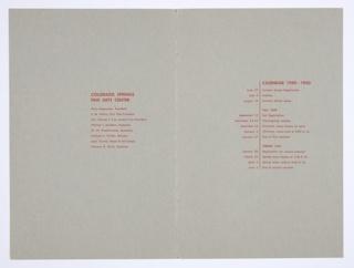 Booklet Cover, Colorado Springs Fine Arts Center School, 1949–1950