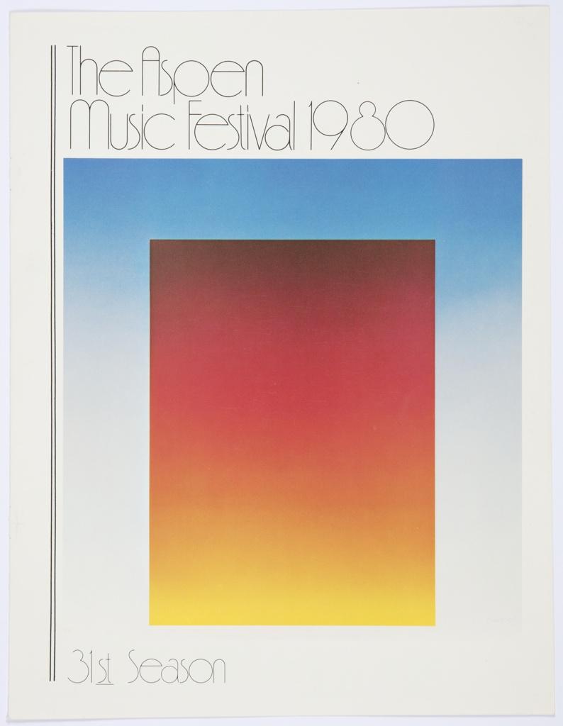 Print, The Aspen Music Festival 1980, 31st Season
