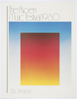 Print, The Aspen Music Festival 1980, 31st Season