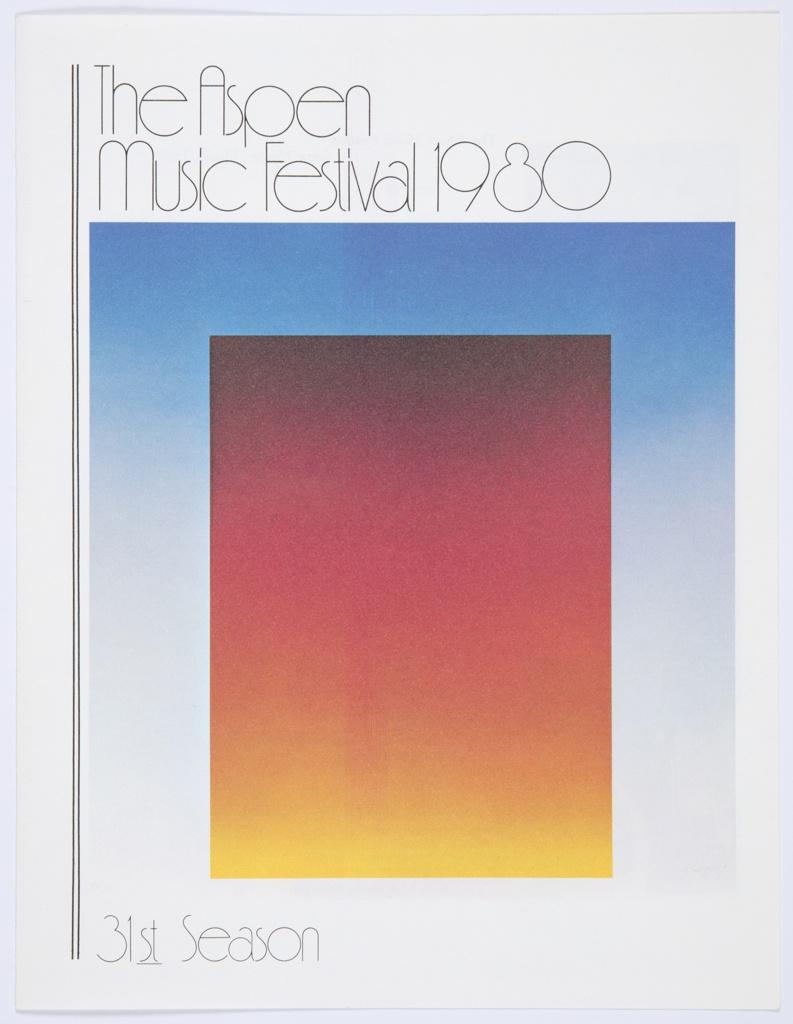 Booklet, The Aspen Music Festival 1980, 31st Season