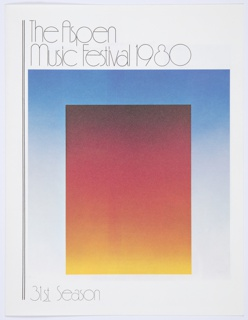 Booklet, The Aspen Music Festival 1980, 31st Season