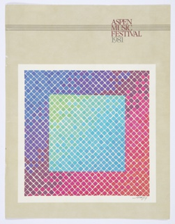 Print, Aspen Music Festival 1981