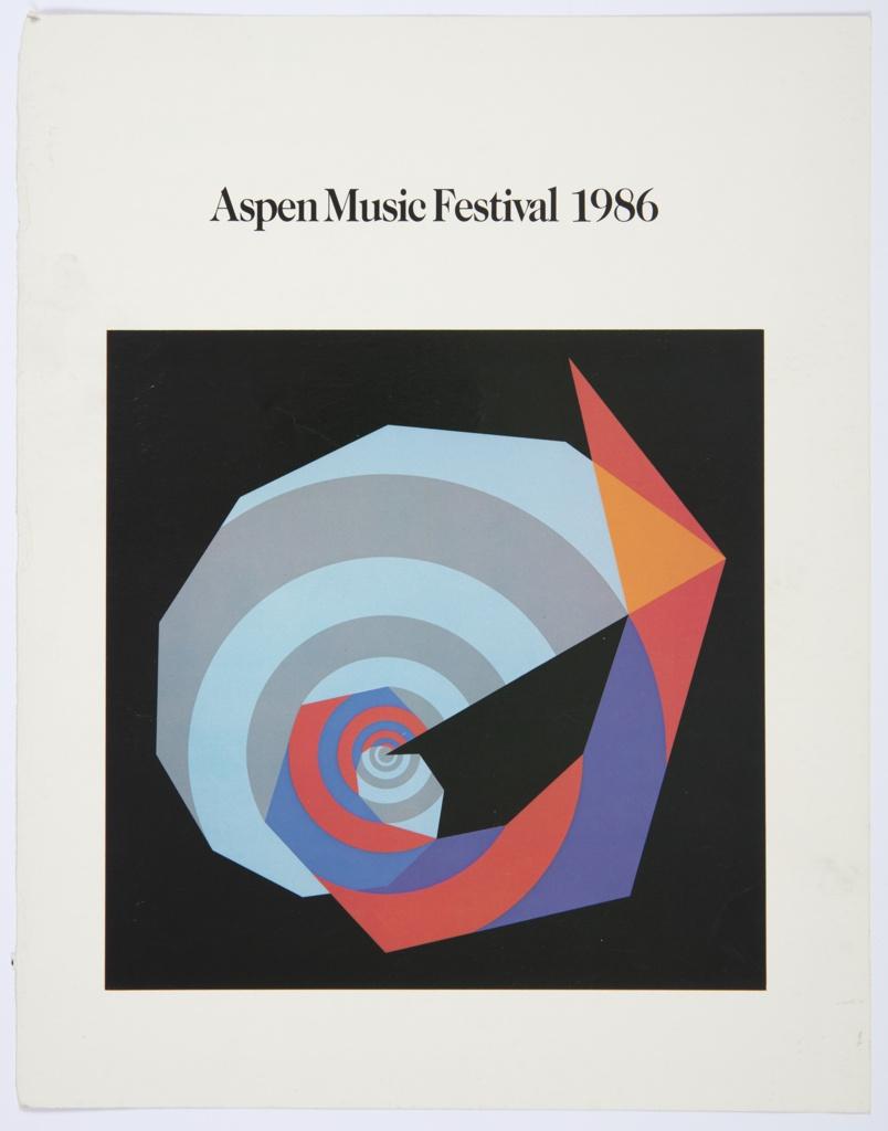 Print, Aspen Music Festival 1986