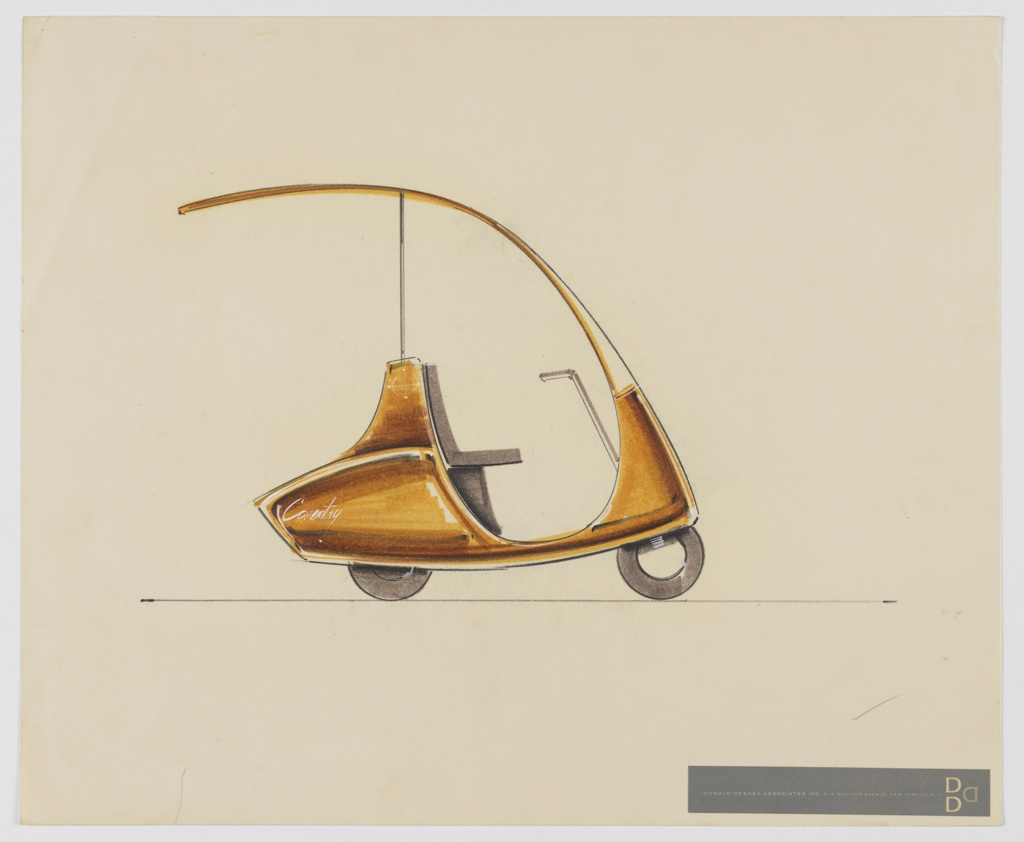 Drawing, Design for Scooter