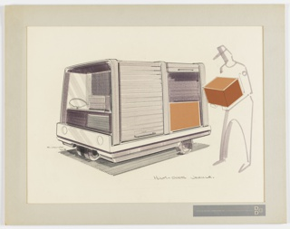 Drawing, Design for a Three Wheel Truck