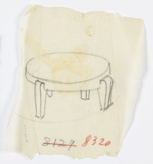Drawing, Designs for Chairs, Sofas, Tables