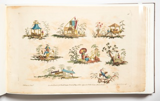 Book, Plate three from The Ladies Amusement, Whole Art of Japanning Made Easy, 1760