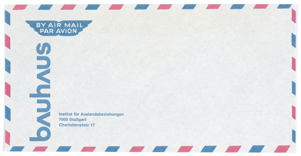 Envelope, Bauhaus Air Mail