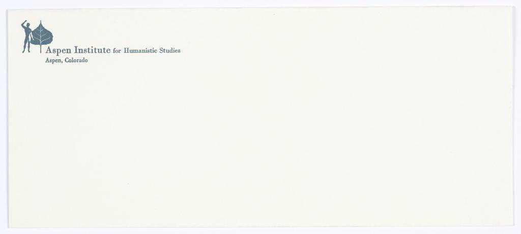 Envelope, Aspen Institute for Humanistic Studies