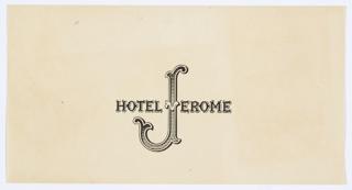Print, Hotel Jerome Logo Design