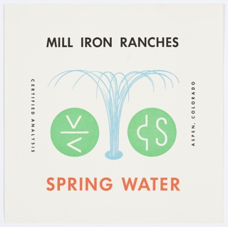 Print, Mill Iron Ranches Spring Water